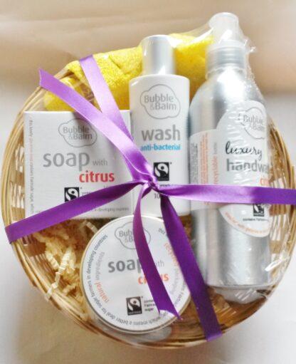Bubble & Balm gift basket